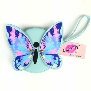 Betsey Johnson Butterfly Wristlet Coin Purse